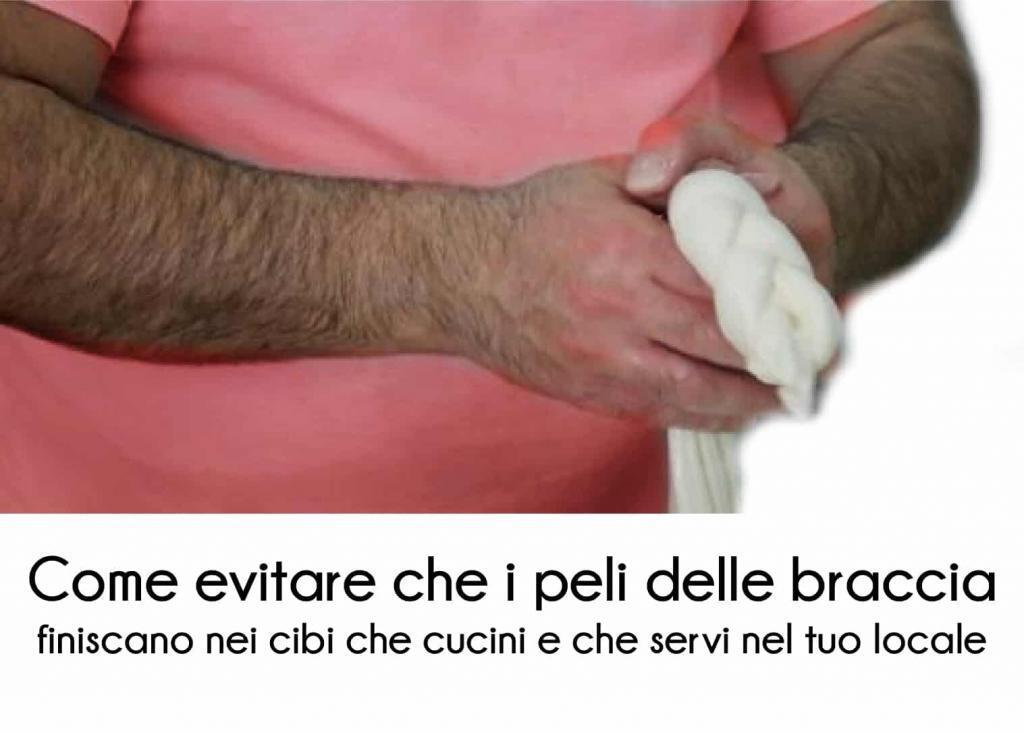 Epilazione braccia e ristorazione sono strettamente legate per il problema dell'igiene.