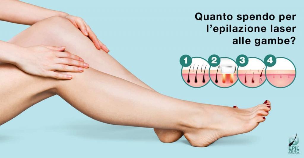 Quanto spendo per l'epilazione laser alle gambe?
